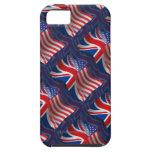 Bandera que agita Británico-Americana iPhone 5 Cárcasas
