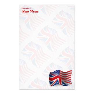 Bandera que agita Británico-Americana Papelería