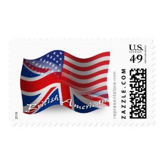 Bandera que agita Británico-Americana Sellos