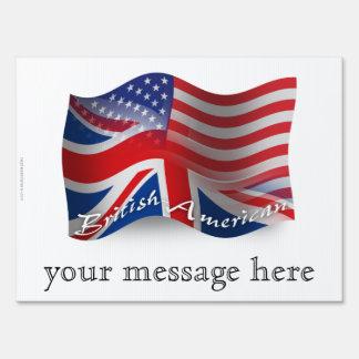 Bandera que agita Británico-Americana Señal
