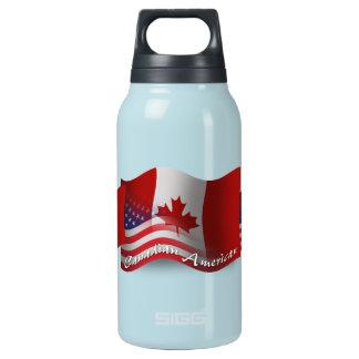 Bandera que agita Canadiense-Americana