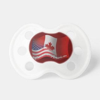 Bandera que agita Canadiense-Americana Chupetes Para Bebés