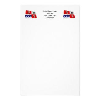 Bandera que agita central de Bohemia Papeleria