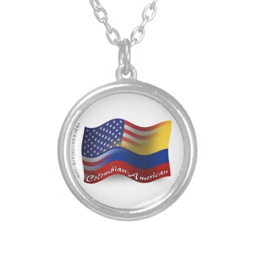 Bandera que agita Colombiano-Americana Colgante Personalizado