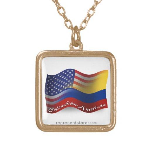 Bandera que agita Colombiano-Americana Pendientes