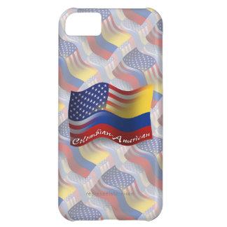 Bandera que agita Colombiano-Americana Funda Para iPhone 5C