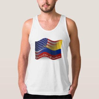 Bandera que agita Colombiano-Americana Playera De Tirantes American Apparel De Jersey Fin