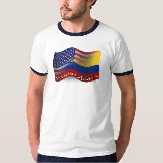 Bandera que agita Colombiano-Americana Polera