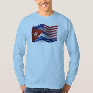 Bandera que agita Cubano-Americana Camisas