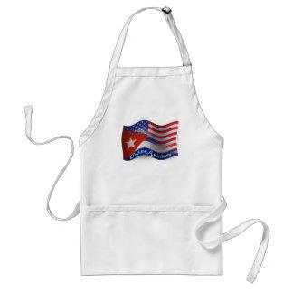 Bandera que agita Cubano-Americana Delantal