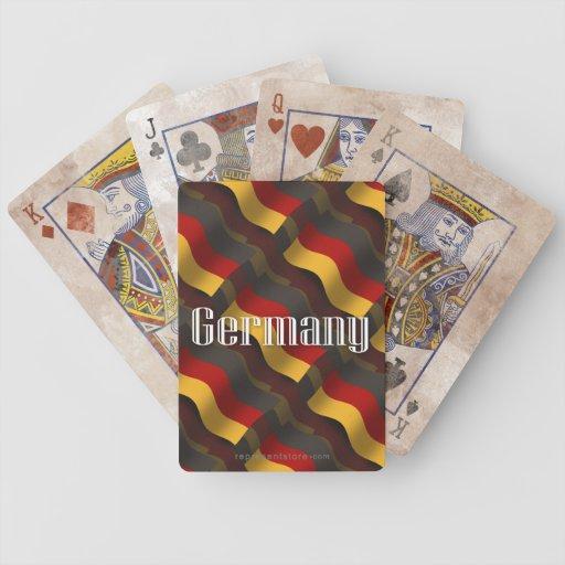Bandera que agita de Alemania Baraja