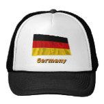 Bandera que agita de Alemania con nombre Gorros Bordados