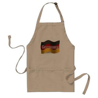 Bandera que agita de Alemania Delantal