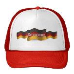 Bandera que agita de Alemania Gorros Bordados