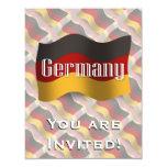 Bandera que agita de Alemania Invitación 10,8 X 13,9 Cm