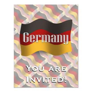 Bandera que agita de Alemania Invitaciones Personales