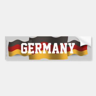 Bandera que agita de Alemania Pegatina Para Auto