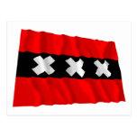Bandera que agita de Amsterdam Tarjetas Postales