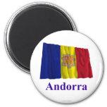 Bandera que agita de Andorra con nombre Imán