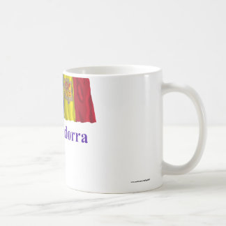 Bandera que agita de Andorra con nombre Taza