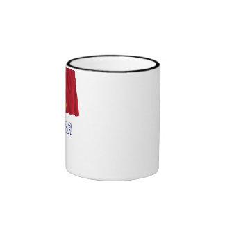 Bandera que agita de Andorra con nombre Taza De Dos Colores