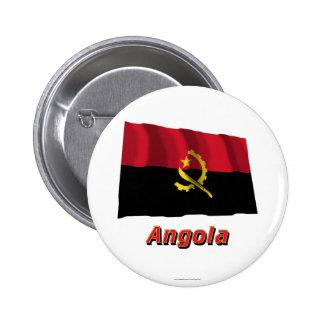Bandera que agita de Angola con nombre Pin
