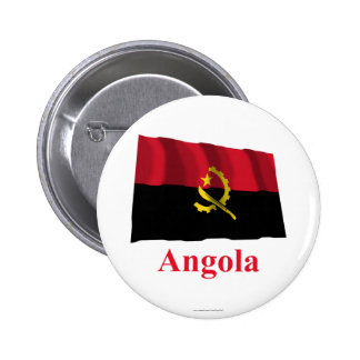 Bandera que agita de Angola con nombre Pins
