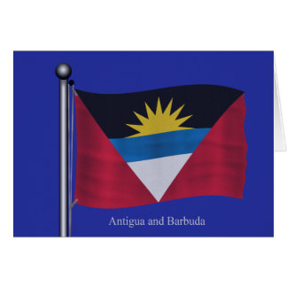 Bandera que agita de Antigua y de Barbuda Felicitación