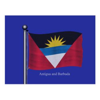 Bandera que agita de Antigua y de Barbuda Tarjeta Postal