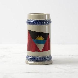 Bandera que agita de Antigua y de Barbuda Tazas