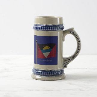 Bandera que agita de Antigua y de Barbuda Tazas De Café