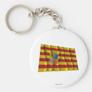 Bandera que agita de Aragón Llaveros Personalizados
