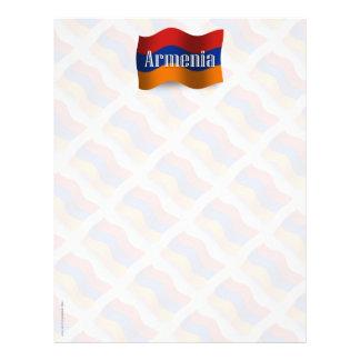 Bandera que agita de Armenia Plantilla De Membrete