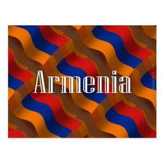 Bandera que agita de Armenia Tarjeta Postal