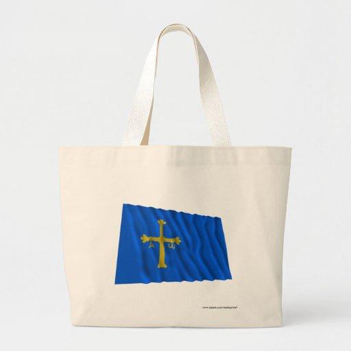 Bandera que agita de Asturias Bolsas Lienzo