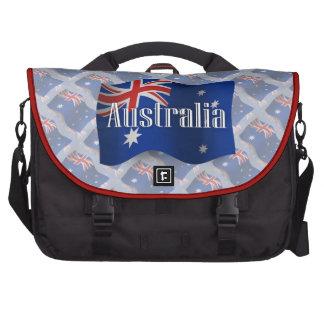 Bandera que agita de Australia Bolsas Para Portátil