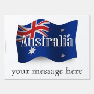 Bandera que agita de Australia Letreros