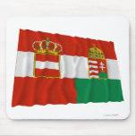 Bandera que agita de Austria-Hungría (1869-1918) Alfombrillas De Ratones