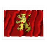 Bandera que agita de Aveyron Tarjetas Postales