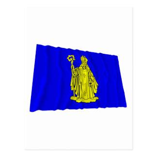 Bandera que agita de Baarle-Hertog Tarjetas Postales