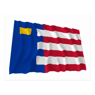 Bandera que agita de Baarle-Nassau Tarjeta Postal