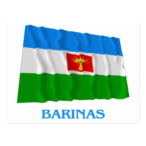 Bandera que agita de Barinas con nombre Postal