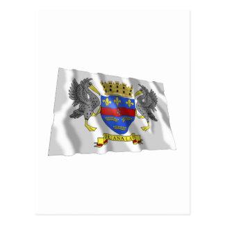 Bandera que agita de Barthelemy del santo Postal