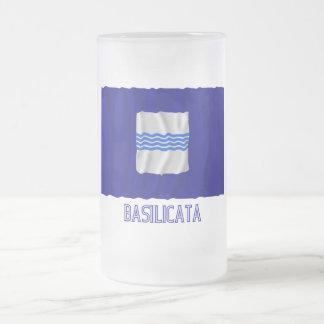 Bandera que agita de Basilicata con nombre Taza Cristal Mate
