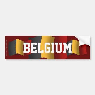 Bandera que agita de Bélgica Pegatina Para Auto