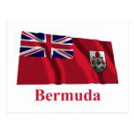 Bandera que agita de Bermudas con nombre Tarjetas Postales