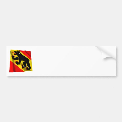 Bandera que agita de Berna Pegatina Para Auto