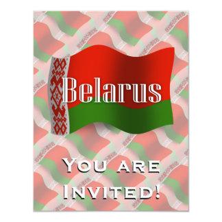 """Bandera que agita de Bielorrusia Invitación 4.25"""" X 5.5"""""""