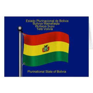 Bandera que agita de Bolivia Tarjeta