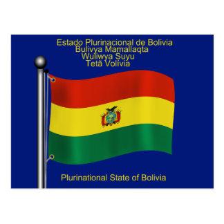 Bandera que agita de Bolivia Tarjeta Postal